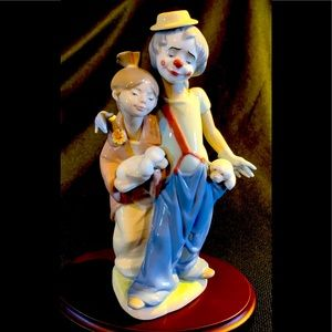 """Lladro 7686 """"Pals Forever"""" Clown & Woman Figurine"""